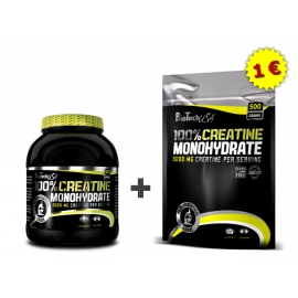 Creatine Monohydrate 500g. + Druhý ZDARMA